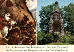 Morgarten (Zug) - Denkmal Der Schlacht Bei Morgarten - 2 Bilder (4482) - ZG Zoug
