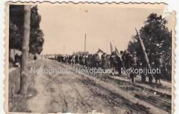 Lietuva, šaulės žygiuoja, Apie 1930 M. Fotografija. Mažo Formato - Lituanie