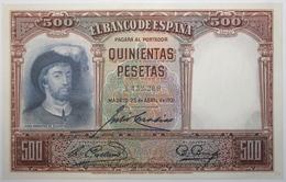 Espagne - 500 Pesetas - 1931 - PICK 84 - SPL - [ 1] …-1931 : Prime Banconote (Banco De España)
