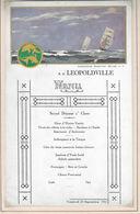 Ancien MENU De 1932 Paquebot LEOPOLDVILLE - Menus