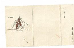 Ancien MENU De Paques De 1937 Paquebot LEOPOLDVILLE - Menus