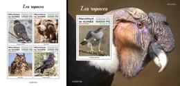 Guinea 2020, Animals, Birds Of Prey, Owl, 4val In BF+BF - Aigles & Rapaces Diurnes