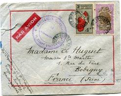 """MADAGASCAR LETTRE PAR AVION AVEC CACHET """" ARTILLERIE COLONIALE 11 COMPie D'OUVRIERS """" DEPART DIEGO-SUAREZ 4 NOV 39...... - Madagascar (1889-1960)"""