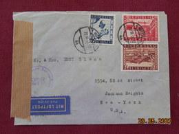 Lettre D'Autriche De 1946 Pour Les USA Avec Cachet De Censure - 1945-.... 2nd Republic