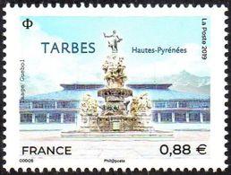 France N° 5335 ** Tarbes (Hautes-Pyrénées), Fontaine Des Quatre-Vallées, La Halle Marcadieu - Neufs