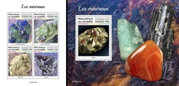 Guinea 2020, Minerals, 4val In BF+BF - Minerales