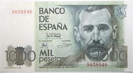 Espagne - 1000 Pesetas - 1979 - PICK 158a.1 - NEUF - [ 4] 1975-… : Juan Carlos I