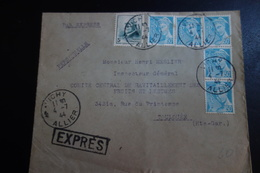 Lettre Express De Vichy 1944 Pour Toulouse - Autres