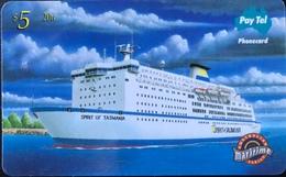 AUSTRALIE  - Pay.Tel  -  Australian Maritime  -  Spirit Of Tasmania  -  $ 5 - Australia