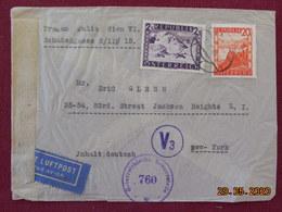 Lettre D'Autriche De 1946 Pour Les USA Avec Cachet De Censure - 1945-60 Brieven