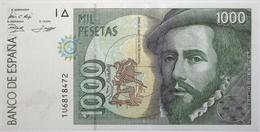 Espagne - 1000 Pesetas - 1992 - PICK 163a.3 - SUP+ - [ 4] 1975-… : Juan Carlos I