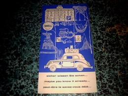 """Vieux Papier Dépliant Touristique Guide Shell Année 1960 Intitulé """" Peut-être Le Saviez-vous Déjà ..."""" - Tourism Brochures"""