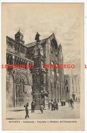 BITONTO - CATTEDRALE - FACCIATA E OBELISCO DELL'IMMACOLATA F/PICCOLO VIAGGIATA 1928 ANIMATA - Bitonto