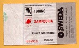 Biglietto Ingresso Stadio Torino-Sampdoria 1987/88 - Tickets - Vouchers