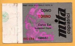Biglietto Ingresso Stadio Como-Torino 1986/87 - Tickets - Vouchers