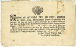 K.K. ARMEE Heilbronn 1793(?) Seltener Freipass Österreich Baden WEILIMDORF Scheible Stuttgart - Documentos Históricos