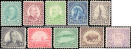 1931 United States #692-701, Complete Set(10), Hinged - Vereinigte Staaten