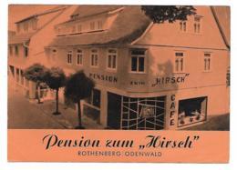 "DEPLIANT PUB PUBLICITAIRE PENSION ZUM "" HIRSCH "", ROTHENBERG / ODENWALD, ALLEMAGNE - Tourism Brochures"