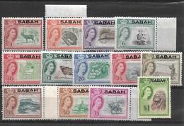 MALAYSIA SABAH 1964 Defenitives MNH - Butterflies