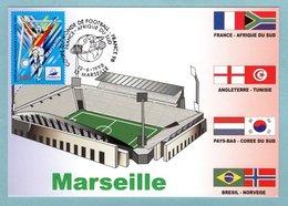Carte Maximum 1998 - France 98 Coupe Du Monde De Football - Marseille - YT 3075 - 13 Marseille - Cartes-Maximum