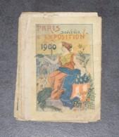 DEPLIANT SOUVENIR DE L'EXPOSITION DE 1900, PORTE MONUMENTALE, CHAMPS ELYSEES, CHATEAU D'EAU, PALAIS DES LETTRES, PARIS - Tourism Brochures