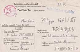 CPFM Kriegsgefangenenpost OFLAG XD  Hambourg Fischbeck Pour Briançon Censure OFLAG XD Censor N°14 - Guerre De 1939-45