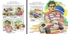 Togo 2020, Sport, Senna, 4val In BF +BF - Cars