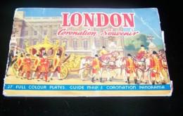 LONDON CORONATION SOUVENIR, 27 FULL COLOUR PLATES, MEMORIES OF LONDON, 27 VUES, ANGLETERRE - Tourism Brochures