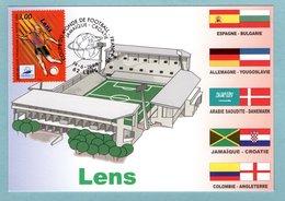 Carte Maximum 1998 - France 98 Coupe Du Monde De Football - Lens - YT 3010 - 62 Lens - Cartes-Maximum