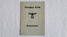 Deutsches Reich Kennkarte 1943 Ausweis - 1939-45