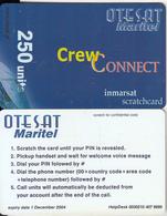 GREECE - OTESAT Maritel Satellite Prepaid Card 250 Units, Tirage 5000, Exp.date 01/12/04, Sample - Greece