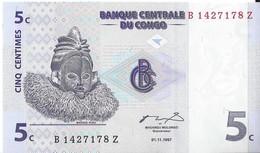 CONGO - 5 Cts 1997 UNC - Kongo