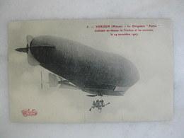 """AVIATION - VERDUN - Le Dirigeable """"Patrie"""" évoluant Au Dessus De Verdun Et Les Environs Le 29 Novembre 1907 - Airships"""