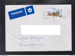 GERMANY, COVER, FLAMME WWF PREMIUM / REPUBLIC OF MACEDONIA ** - Brieven En Documenten