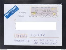 FRANCE, COVER, LABEL PRIORITY / REPUBLIC OF MACEDONIA ** - 2000 «Avions En Papier»