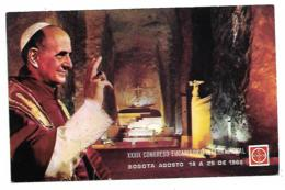 CP PAPE PAUL VI, XXXIX CONGRESO EUCARISTICO INTERNACIONAL, BOGOTA AGOSTO 18 A 25 DE 1968, CONGRES EUCHARISTIQUE - Popes