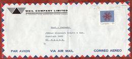 Luftpost, Weihnachten, Downsview Nach Mainz 1971 (94440) - 1952-.... Règne D'Elizabeth II
