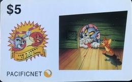 AUSTRALIE  - Phonecard  -  Pacificnet  -  Tom & Jerry  -  $ 5 - Australia