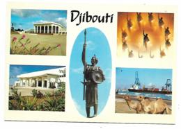 CP MULTIVUES DJIBOUTI, PALAIS DU PEUPLE, STATUE DES MARTYRS, TERMINAL CONTAINER, REPUBLIQUE DE DJIBOUTI - Djibouti