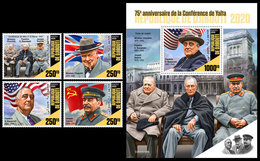 DJIBOUTI 2020 - WW2: Yalta Conference, 4v + S/S. Official Issue [DJB200106] - WO2