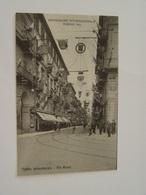 ITALIE-TORINO-ESPOSIZIONE INTERNATIONALE 1911 26200 ED GTF TORINO IMBANDIERA VIA ROMA - Mostre, Esposizioni