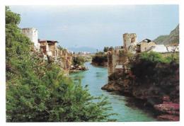 CP MOSTAR, LA PASSERELLE REMPLACANT LE VIEUX PONT, BOSNIE HERZEGOVINE - Bosnië En Herzegovina