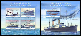 MALDIVES 2020 - WW2: Sunk By Submarines. M/S + S/S Official Issue [MLD191109] - WO2