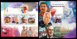 S. TOME & PRINCIPE 2020 - WW2: Yalta Conference. M/S + S/S. Official Issue [ST200104] - WO2