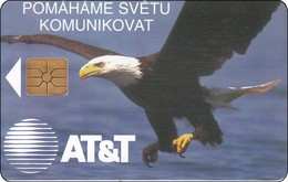 Tschechien Chip Phonecard AT&T Bird Vogel Adler - Eagles & Birds Of Prey