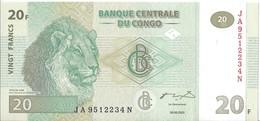 CONGO - 20 Francs 2003 UNC - Congo