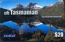 AUSTRALIE  - TASMANIE   -  Praypaid  -  CardCall  - The Tasmanian Phonecard  -  $ 20 - Australia