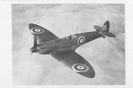 Spitfire Supermarine Mark 1 Aircraft Plane 19 Squadron Postcard - Militari