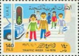 USED STAMPS United-Arab-Emirates - Traffic Week-1976 - United Arab Emirates