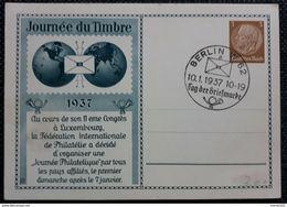 DR 1937, Postkarte, Journee Du Timbre, Sonderstempel - Allemagne